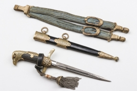 Bulgaria - Luftwaffe officer's dagger with hangers & portepee