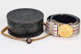 Marine-Chefingenieur - Kaiserliche Marine officer's belt & buckle in box