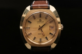 "Certina - DS-2 with gold double case ""NOS"""