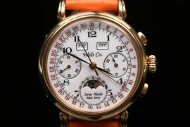 Walt Co. - 18kt gold men's chronograph