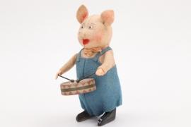 Schuco - Tanzfigur Schwein mit Trommel