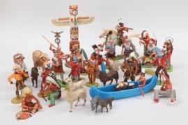 Elastolin - Konvolut Römer - Indianer - Cowboys