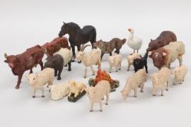 Konvolut Massefiguren Tiere