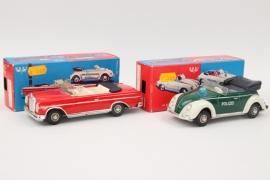 Huki - Modell Nr.212 Volkswagen Polizei und Modell Nr.205 Mercedes 300 SE
