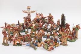 Elastolin - Großes Konvolut Cowboys & Indianer