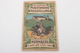 "Katalog - Allgemeine Fahrzeugausstellung ""Nürnberg"" 1900"