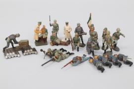 Elastolin - Lineol - Konvolut Soldaten