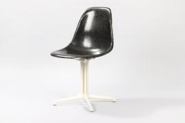 Black Fiberglas La Fonda Chair // Charles and Ray Eames