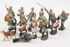 Elastolin & Lineol - Konvolut Massefiguren Soldaten Musiker