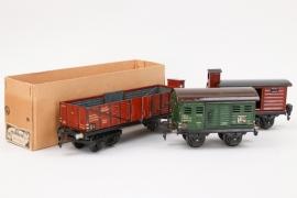 Märklin - Drei Wagons Spur 0