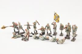 Elastolin - Lineol - Figurenkonvolut Wehrmacht