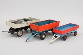 Konvolut Blechspielzeug LKW Anhänger