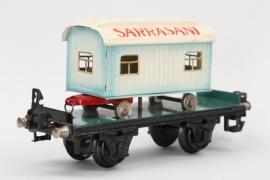 """Märklin - Güterwagen mit Zirkuswagen """"Sarrasani"""" Spur 0"""