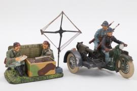 Elastolin - Morsestation und Motorradgespann