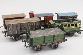 Bing - Konvolut Eisenbahnwagons