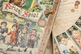 """Antikes Brettspiel """"Ferienspiel"""""""