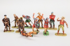 Elastolin -  Konvolut Cowboys - Indianer - Normannen