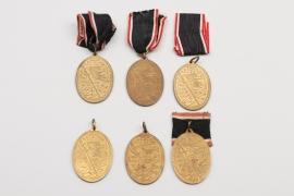 Imperial Germany - 6 + Kyffhäuserbund War Veteran Medals