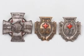 Imperial Germany - 3 + WW1 patriotic badges