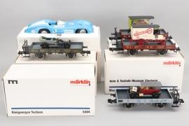 Märklin - Konvolut Fahrzeuge und Wagons