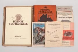 16 Bücher & Zeitschriften über Fahrzeuge Oldtimer