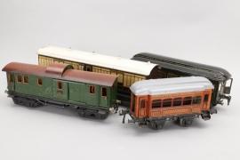 Märklin - Bing - - Konvolut Wagons Spur 1