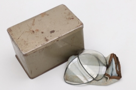 Wehrmacht motorcyclist's goggle case with spare glasses