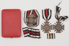 Honor Cross of WWI lot + case