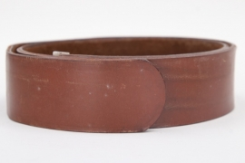Third Reich brown parade leather belt