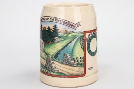 Third Reich Westwall commemorative beer mug