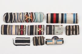 9 + WWI ribbon bars