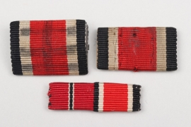 3 + 1939 Iron Cross 2nd Class ribbon bars
