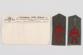 "K.B.6.Inf.-Rgt. ""Kaiser Wilhelm"" shoulder boards & envelope"