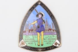 "1930 ADAC Soest ""Zielfahrt"" enamel commemorative plaque"