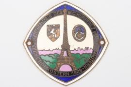 """1929 MC Kurpfalz """"Tourenfahrt nach Paris"""" commemorative plaque"""