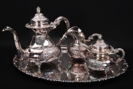 Tee Service 925 Sterling Silber Alt-Heidelberg