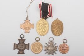 Deutsches Kaiserreich & Bulgarien lot von 7 Abzeichen