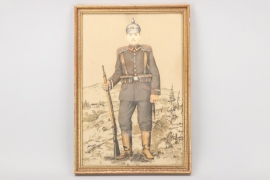 Imperial Germany - WWI IR14 framed portrait photo