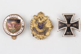Imperial Germany - 3 enamel patriotic badges