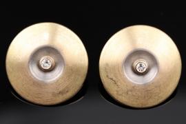 Geometrisch geformte Brillant-Ohrringe