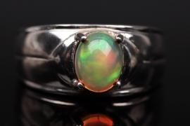 Silberring mit Indonesischem Opal
