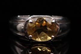 Silberring mit Citrin