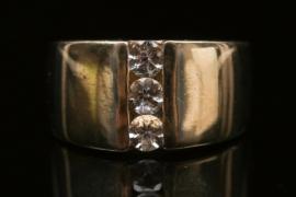 Breiter Silberring mit Gosheniten