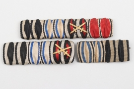 3 + Imperial Germany/Third Reich ribbon bars