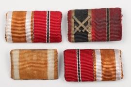 4 + Third Reich ribbon bars