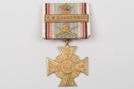 """Bayern """"K.B.2.JÄGER-BAT."""" Regimentskreuz an Bandspange"""