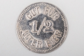 Third Reich 1/2 liter beer token