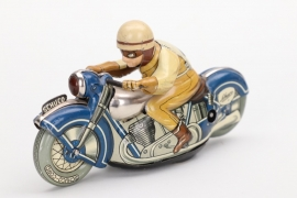 """Germany - Schuco """"Moto-Drill 1006"""" tin motorcycle racer toy"""