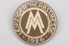 1926 LEIPZIGER HERBSTMESSE badge