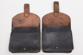 France - Gendarmerie leather pouches